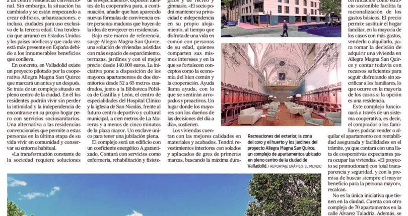 Diario de Valladolid-El Mundo habla de Allegra Magna San Quirce