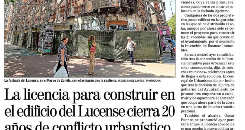 Licencia definitiva para el Edificio Lucense